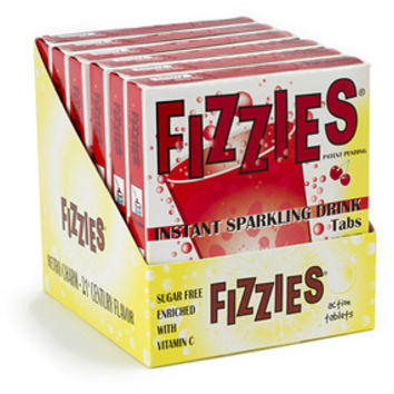 Fizzies Candy Drink Tablets Packs - Cherry: 6-Piece Box