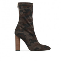 DEVON SOCK FIT STRETCH CAMO BOOT IN KHAKI