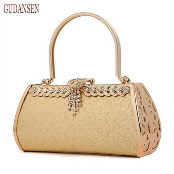 GUDANSEN Luxury gold Women Evening Bags fashion Clutches For Bride Ladies purses and handbags Designer Party Wedding Clutch bag