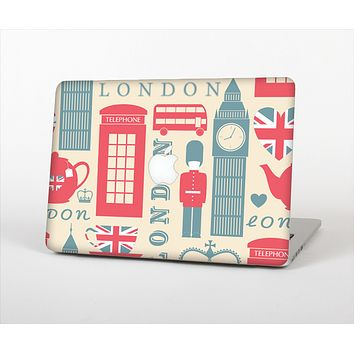 The Vector London Time Red Skin Set for the Apple MacBook Pro 13""