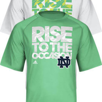 SLD adidas : Notre Dame 'Rise To The Occasion' T-Shirt : Hammes Notre Dame Bookstore