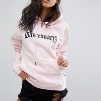 Wasted Paris Oversized Skate Hoodie With Embroidered Front Logo at asos.com