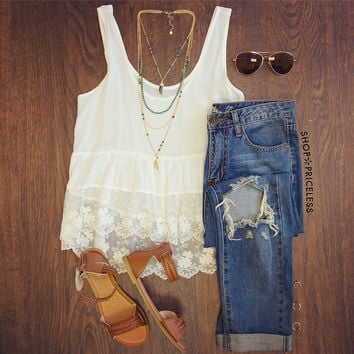White Sky Lace Top