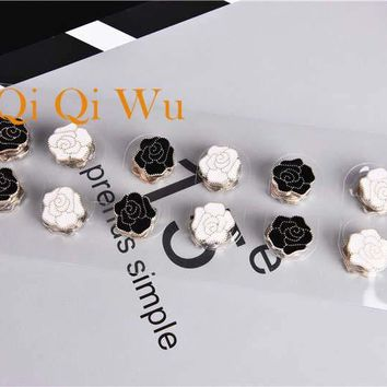 12pcs Muslim Strong Magnet Brooch pin black and white enamel islamic women gift hijab scarf breast pin veil Safety Pins