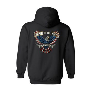 Men's/Unisex Zip-Up Hoodie Land Of The Free