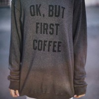 Brandy & Melville Deutschland - Erica Ok But First Coffee Sweater