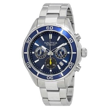 Nautica NST 12 Blue Dial Mens Chronograph Watch NAD18524G