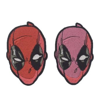 Deadpool Dead pool Taco 1Pcs New Arrival  Face Mask Marvel  Superhero Movies Cartoon Embroidered Sew or Iron on Patch Badge DIY Applicatio AT_70_6