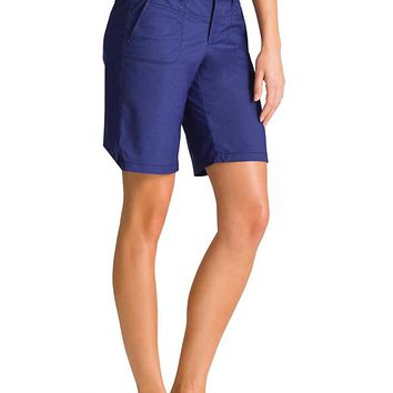 "Athleta Womens 10"" La Trek Short Size 10 - Amalfi blue heather"