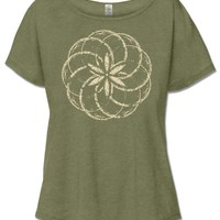 NEW! Spirograph Short Sleeve Slouch Top