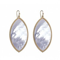 Capri Earrings, Mother of Pearl by ASHA | Charm & Chain