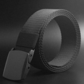 LMFLD1 Men Fashion Belts Outdoor Sports Military Tactical Nylon Waistband Canvas Web Belt Hot Sale