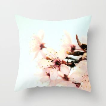 Blossoms Throw Pillow by ARTbyJWP
