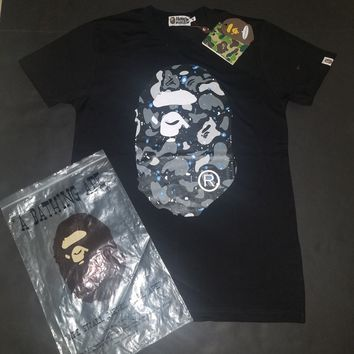 cc DCCK Men's A Bathing Ape Bape Tee Space Camo Black