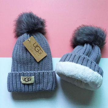 UGG Knit And Pom Hat Cap-8