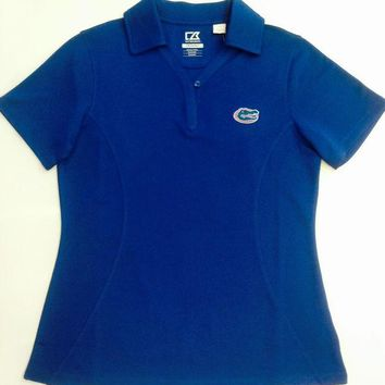 ONETOW NCAA Florida Gators Cutter & Buck Ladies DRYTEC Polo