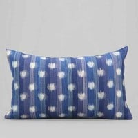 4040 Locust Ikat Dot Pillow- Blue One