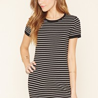 Stripe Knit Bodycon Dress
