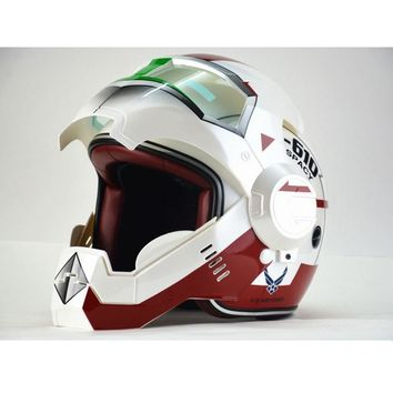 New Design Iron Man motorcycle half helmet open face Casco Capacete Motorcycle Helmet