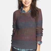 BP. Stripe Marled Cotton Blend Pullover (Juniors)