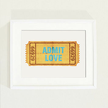 8 x10 ADMIT LOVE poster by aussiekn on Etsy