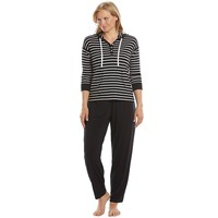 Chaps Pajamas: Highland Estate Hoodie & Pants Pajama Set - Women's Plus Size, Size: