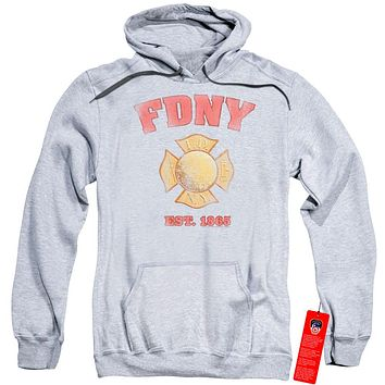 FDNY Hoodie New York City Fire Dept Vintage Heather Hoody