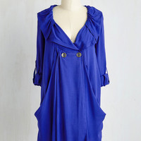 Long Long Sleeve, 3 Busy Week Tunic in Blue