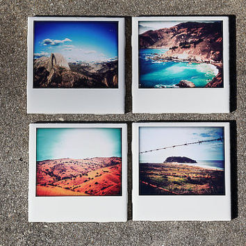 Polaroid Coasters Scenic California Set by PIXELGRINphotography