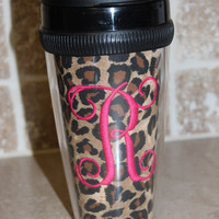 Personalized Cheetah Coffee Mug Tumbler by SewSnazzybyBrook