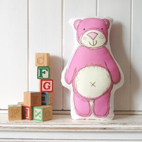 Pink Ted - Printed Softie | Luulla