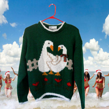 Holiday Sweater Ugly Christmas Sweater Tacky Christmas Sweater Red Sweater Hipster Sweater Hipster Clothing Hipster Clothes Winter Clothing