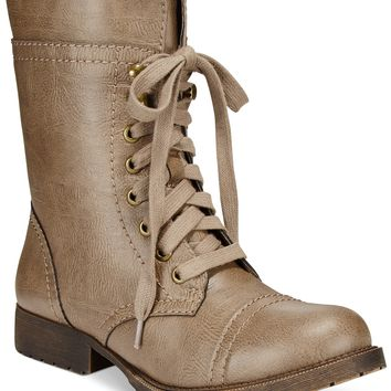 Rampage Jeliana Lace Up Combat Booties