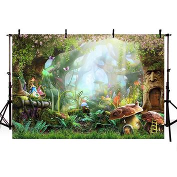 Mehofoto Jungle Fairy Backdrops Safari Party Photography Backgrounds Alice in wonderland backdrop Studio Computer Printed 705