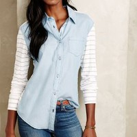 Magnus Chambray Buttondown by A.Z. for Anthropologie Light Denim