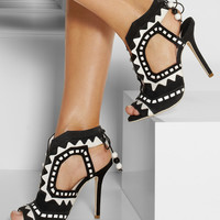 Sophia Webster | Riko cutout patent-leather and suede sandals | NET-A-PORTER.COM