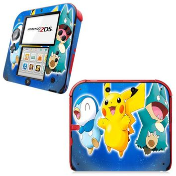 Golden Pokemon Go Lovely Decorative Video Game Decal Cover Skin Protector for Nintendo 2Ds Console