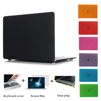 NEW Matte Case For Apple macbook Air Pro Retina 11 12 13 15 laptop bag For Mac book 13.3 inch