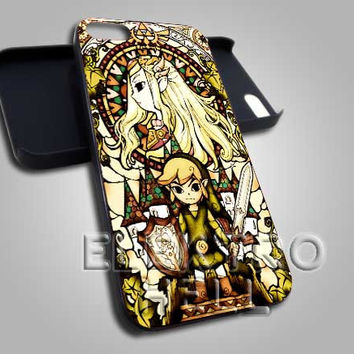 AJ 2023 Zelda The Wind Walker Glass - iPhone 4/4s/5 Case - Samsung Galaxy S2/S3/S4 Case - Black or White
