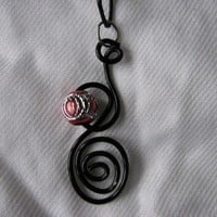 Black wire pendant