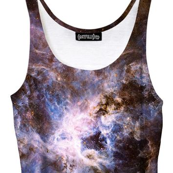 Interstellar Connection Pastel Galaxy Crop Top