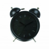 Online shop » Clocks » Alarm clocks » Alarm clock Twin Bell Nude station medium black - Just See ($20-50)