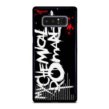 MY CHEMICAL ROMANCE LYRIC Samsung Galaxy Note 8 Case Cover