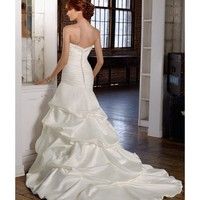 Sweetheart Floor Length Trumpet Satin Gown Style 4809 $145.54 only in eFexcity.com.