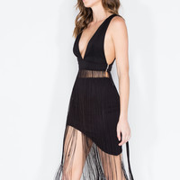 Flapper Fringe Cropped Tank Top