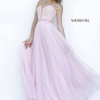 Sherri Hill Strapless Sweetheart Long Prom Dress