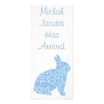 Baby Boy Birth Announcement Bookmark Keepsakes Rack Card Design from Zazzle.com
