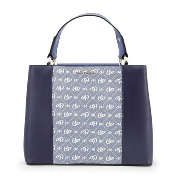 Blu Byblos Blue Leather Handbag