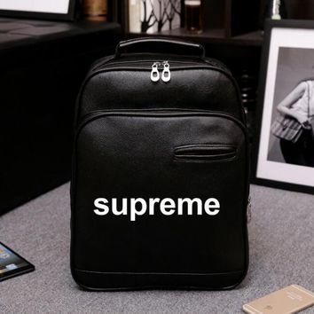 Supreme Women Leather Casual Shoulder SchoolBag Satchel Handbag Backpack bag