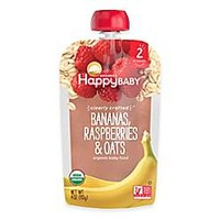 Happy Baby™ Clearly Crafted Stage 2 Organic 4 oz. Bananas, Raspberries, and Oats